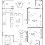 Denah Rumah Tebet lantai 1