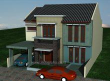 Desain Rumah Minimalis 2 Lantai Tebet