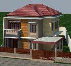 Desain Rumah Minimalis 2 lantai di cinere