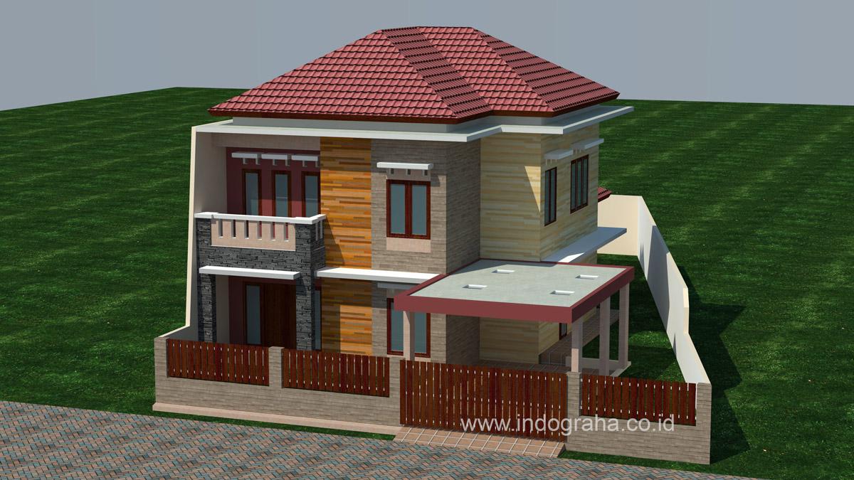 rumah minimalis 2 lantai bentuk l   denah rumah