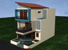 Desain Rumah Minimalis modern 3 lantai di Ciputat Tangerang Selatan
