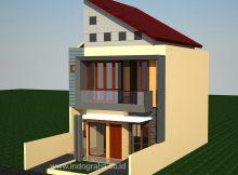 Desain Rumah Minimalis modern tingkat 2 di perumahan grand depok city