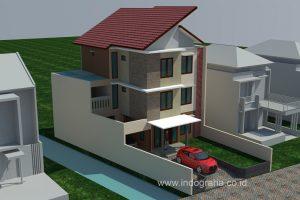 Desain rumah kos 3 lantai di jl baung lenteng agung jakarta selatan