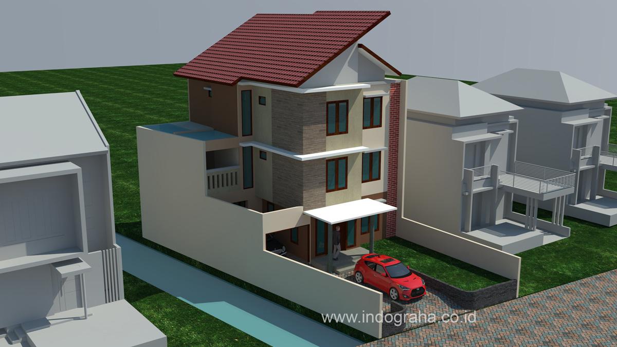 Desain Rumah Kos Minimalis 3 Lantai Di Jl Baung Lenteng Agung