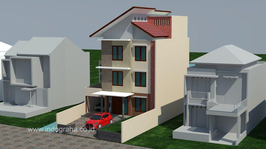 Desain rumah kos minimalis betingkat 3 di jakarta selatan