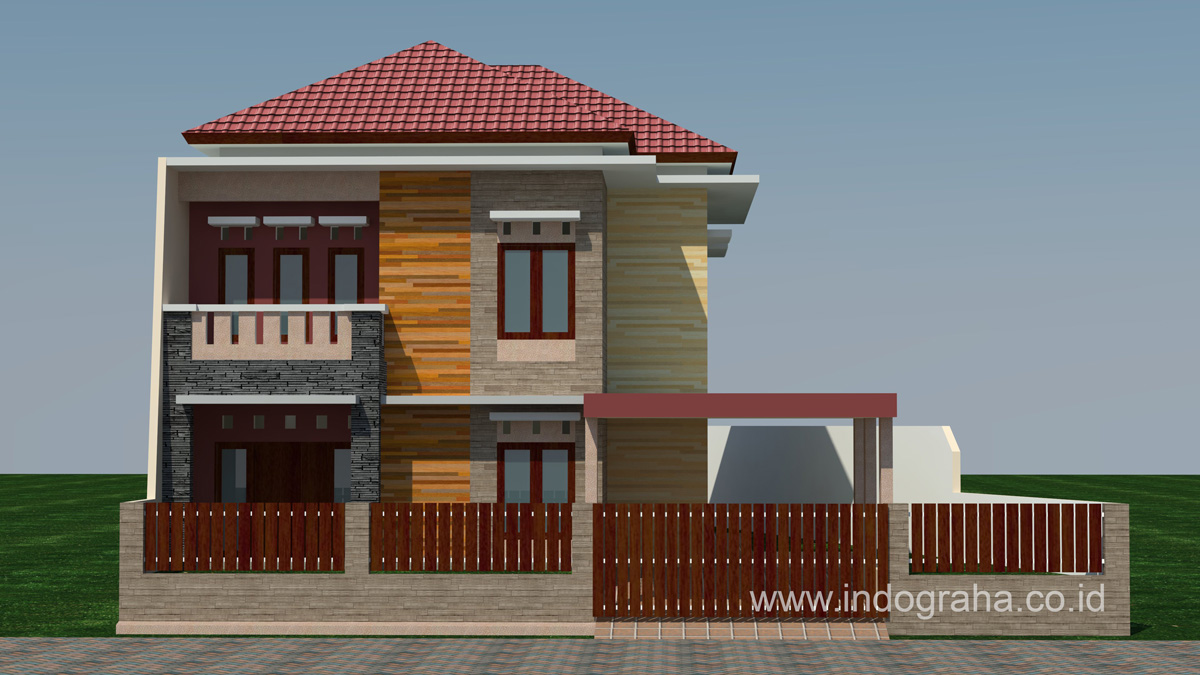 Desain Rumah Minimalis Modern 2 Lantai Di Limo Cinere Kota Depok