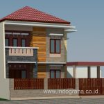 Model rumah minimalis modern tingkat 2 lantai depok