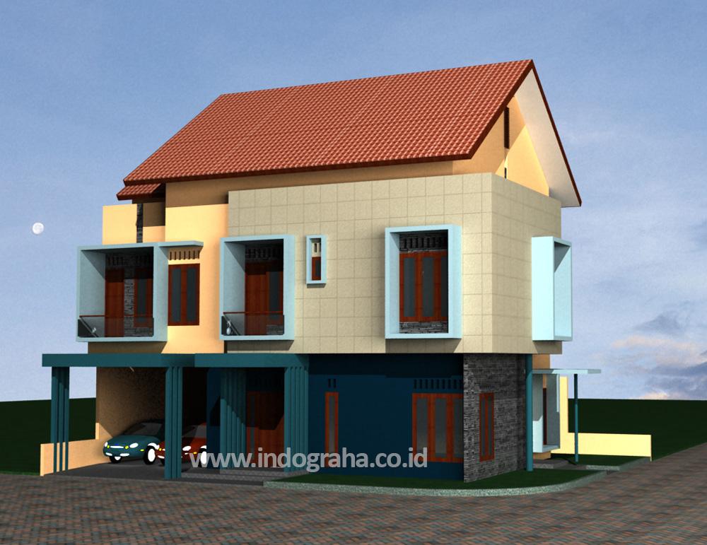 Model rumah minimalis tingkat 2 di cimanggis cibubur