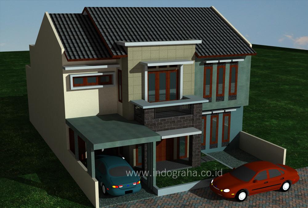 Desain renovasi rumah minimalis 2 lantai di tebet jakarta selatan  Indograha Arsitama