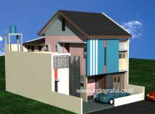 Desain rumah dan kos minimalis 2 lantai di tebet