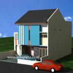 Gambar rumah dan kos minimalis 2 lantai di tebet