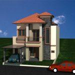 Desain rumah tinggal di cluster puri bintaro