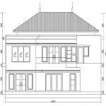 Desain tampak belakang rumah klasik di pondok indah