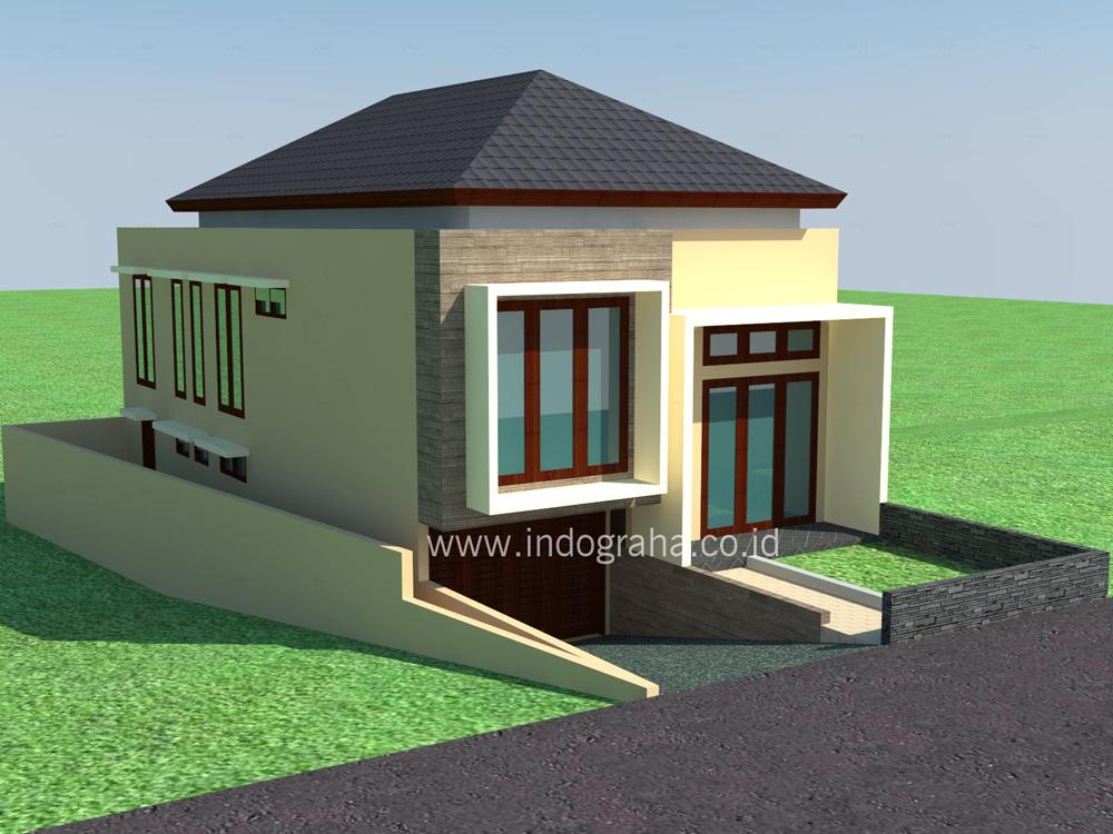 Model rumah minimalis split lantai