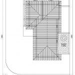 Denah atap rumah minimalis modern di tebet