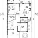 Denah lantai 1 rumah minimalis di kota deltamas