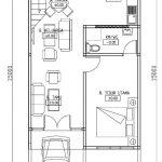 Denah lantai 1 rumah minimalis kopel pondok gede