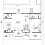 Denah lantai 1 rumah model minimalis di cibubur