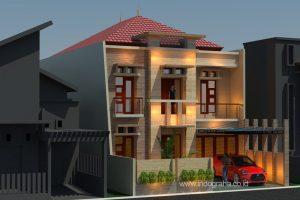 Desain arsitek rumah tinggal minimalis di perumahan setneg cidodol