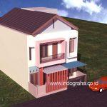 Desain rumah kos minimalis 3 lantai di depok