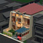 Desain rumah minimalis di komplek setneg cidodol kebayoran lama