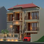 Desain rumah minimalis split level di cibubur jakarta timur