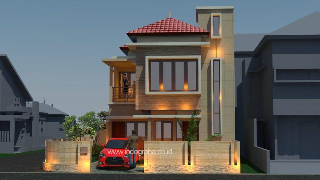 Desain rumah sudut hook minimalis di tebet jakarta selatan
