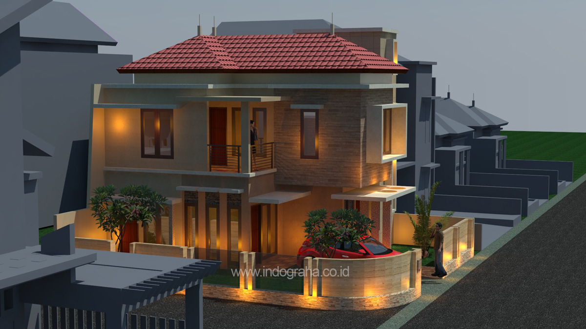 Desain Rumah Minimalis 2 Lantai Kavling Sudut Di Tebet Barat