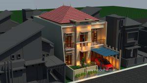 Gambar rumah tingkat 2 model minimalis di cidodol kebayoran lama