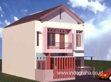 Jasa desain rumah kos mahasiswa tingkat 2 di depok