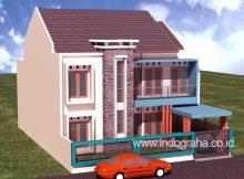 Model rumah minimalis 2 lantai di cimanggis depok