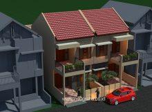 Model rumah minimalis kopel 2 lantai pondok gede bekasi