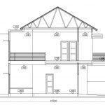 Potongan A-A Rumah minimalis di pondok gede bekasi