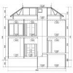Potongan A-A rumah modern minimalis- cibubur jakarta