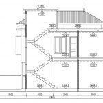 Potongan B-B rumah minimalis tingkat 2 di tebet timur