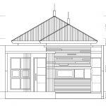 Tampak depan model rumah minimalis di kota deltamas