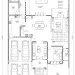 Gambar denah lantai 1 rumah minimalis di kavling DKI