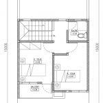 Denah Lantai 2 Rumah Minimalis modern Type 75 di cinere