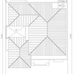 Denah atap desain rumah minimalis di citragran cibubur