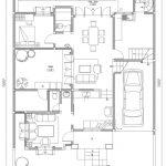 Denah lantai 1 desain rumah tingkat minimalis citragran