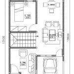 Denah lantai 1 rumah minimalis modern di tapos kota Depok