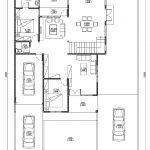 Denah lantai 1 rumah tingkat minimalis terbaru di cimanggis depok