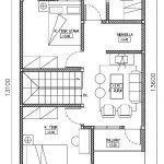 Denah lantai 2 rumah minimalis modern di tapos kota Depok