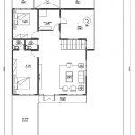 Denah lantai 2 rumah minimalis modern tingkat di- cimanggis depok