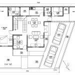 Denah tingkat lantai 1 rumah di permata legenda bekasi