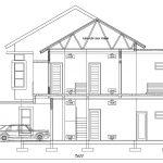 Desain Potongan 1 rumah tingkat 2 dikota depok