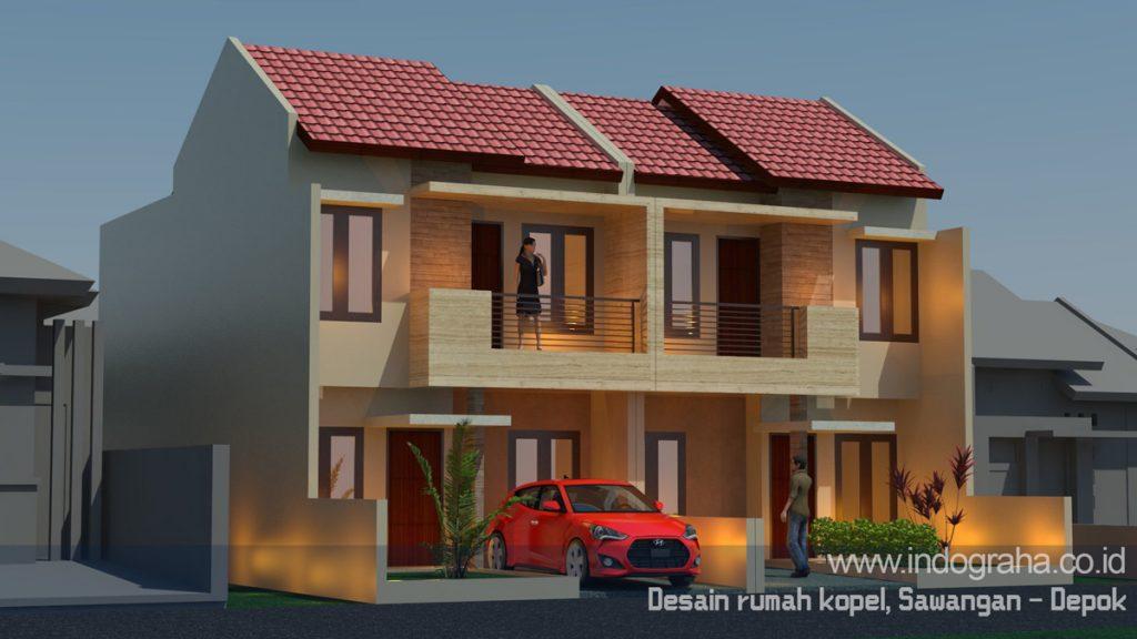 Desain rumah kopel minimalis terbaru di sawangan kota depok