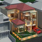 Desain rumah minimalis modern 2 lantai di citragran cibubur