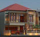 Desain rumah minimalis tingkat 2 di duren sawit jakarta timur
