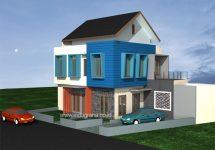 Desain rumah sudut minimalis modern terbaru di permata legenda bekasi